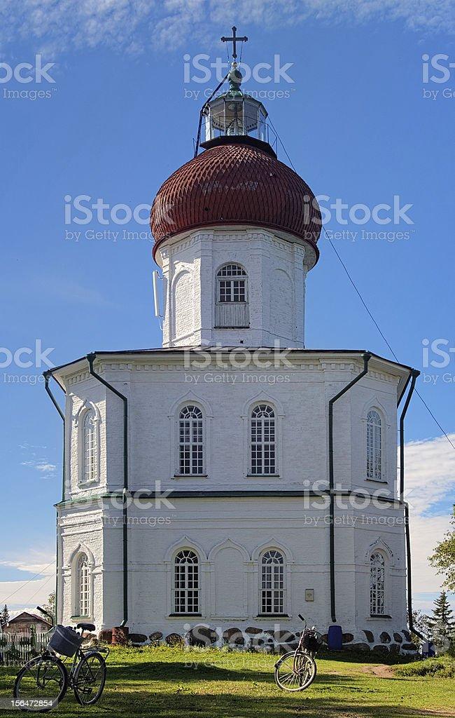 Voznesenskaya church-lighthouse, Solovetsky Islands, Russia stock photo