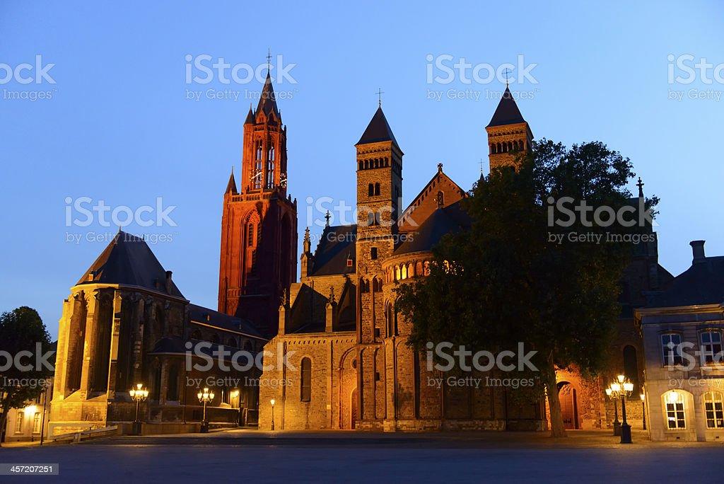 Vrijthof in Maastricht stock photo