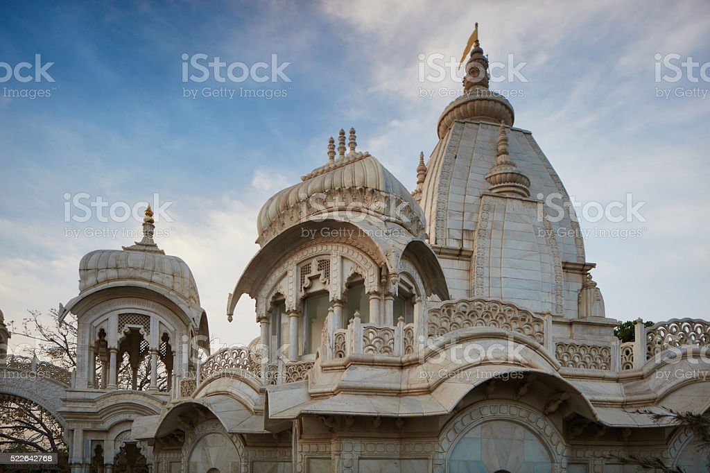 Vrindavan marble temple stock photo