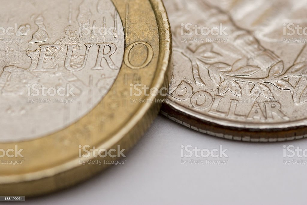EURO vs DOLLAR stock photo