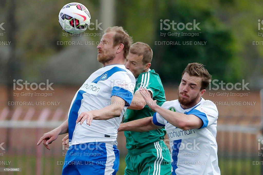 MTK vs. Gyor OTP Bank League football match stock photo