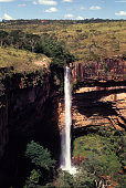 Véu de Noiva waterfall in the Chapada dos Guimarães, Brazil
