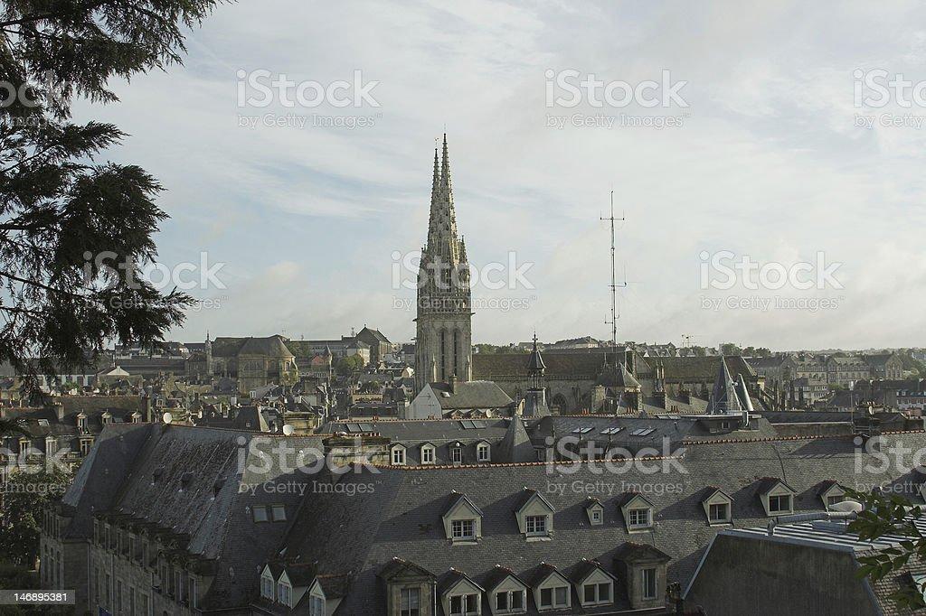 vue sur la cathedrale de Quimper stock photo
