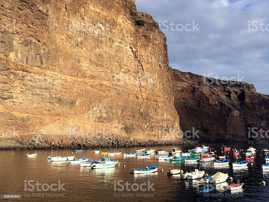 Vueltas, Valle Gran Rey, La Gomera, Canary Islands, Spain stock photo