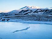 Vulcan Hekla in Iceland - Frozen Lake