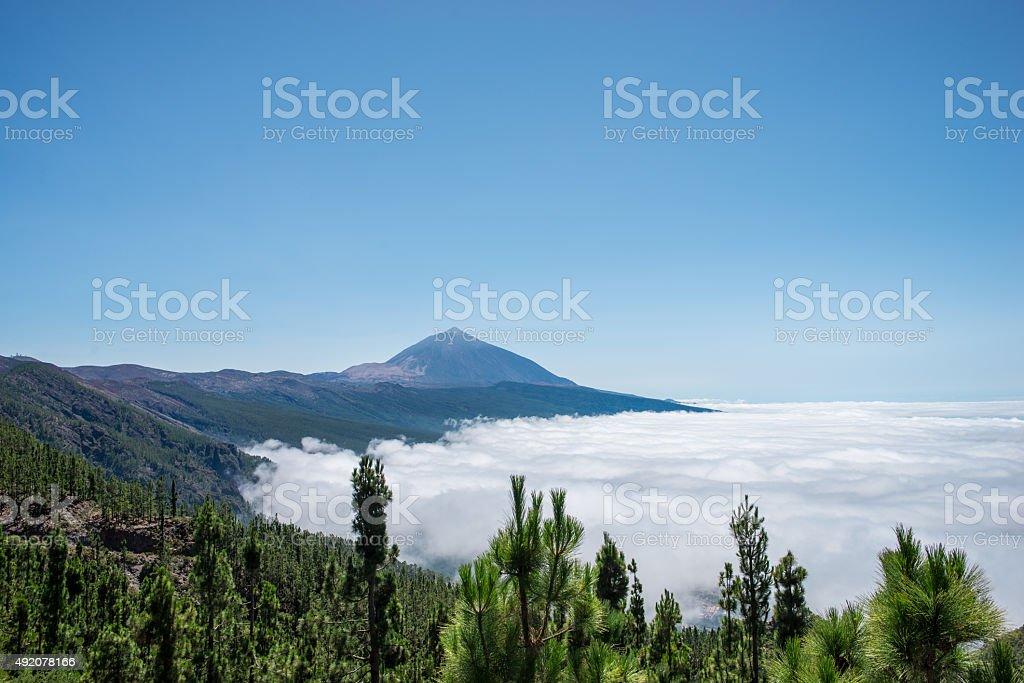 Do Vulcão Teide acima das nuvens foto royalty-free