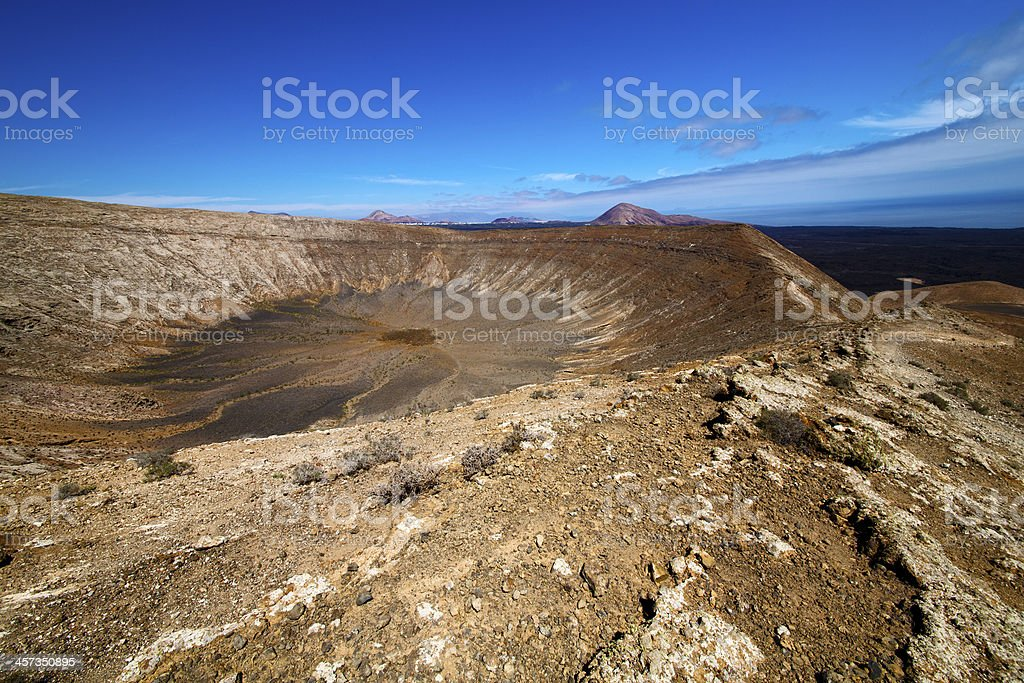 vulcanic timanfaya  rock stone in los volcanes stock photo