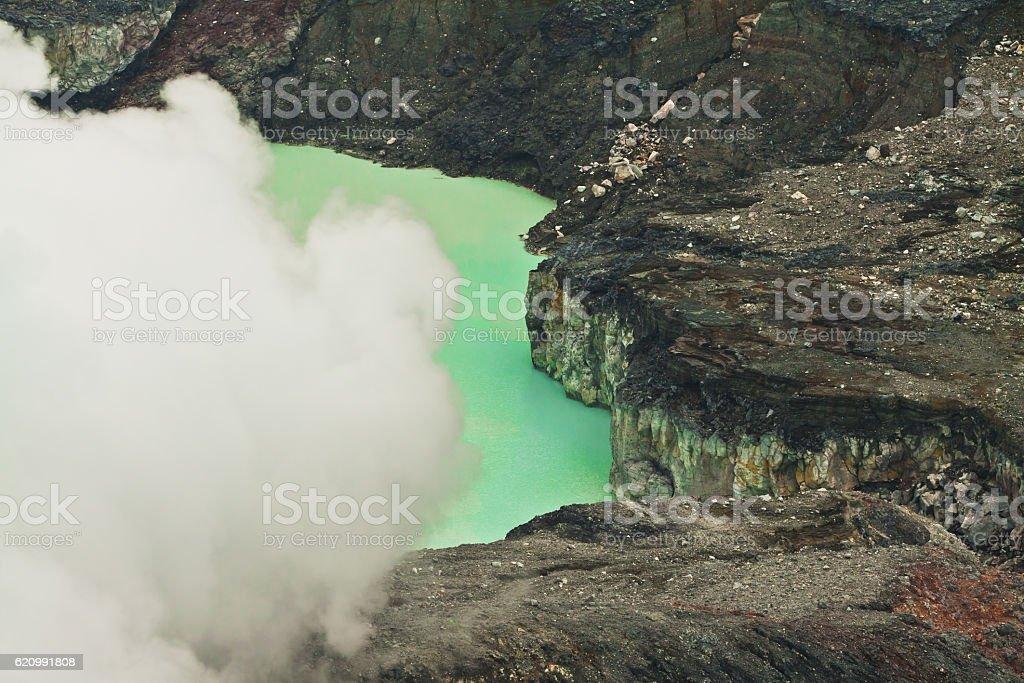 Vulcano crater lake Poas - Costa Rica stock photo