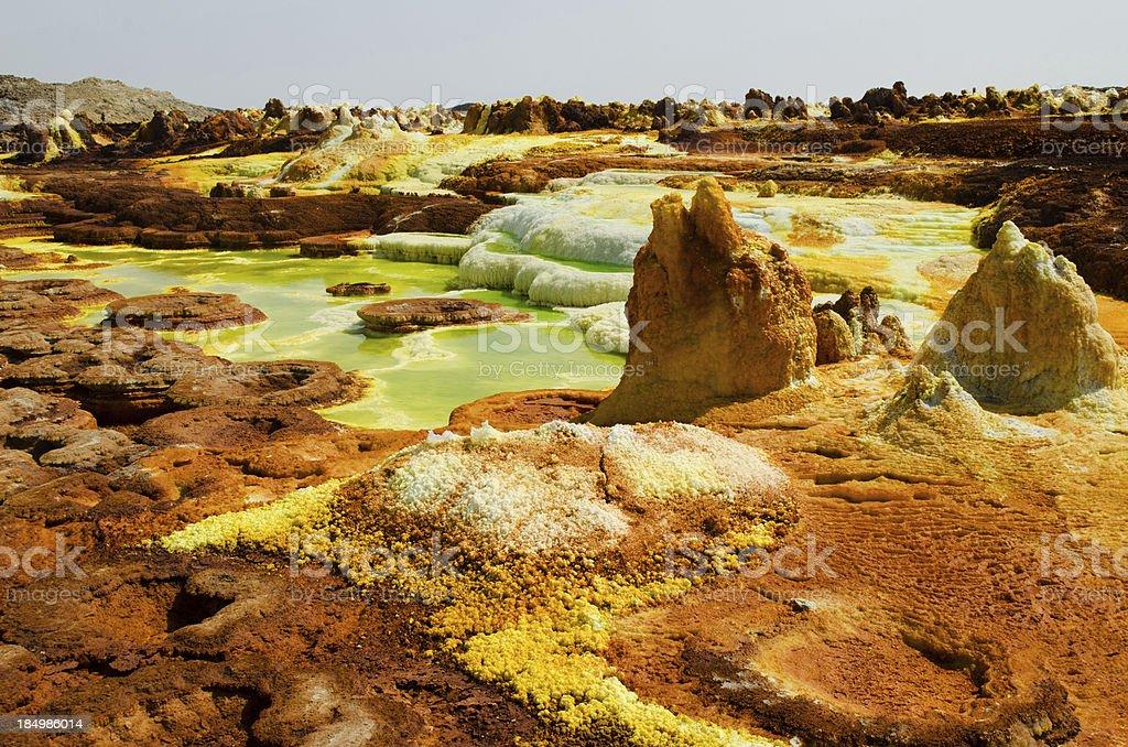 Vulcano Dallol,Ethiopia stock photo