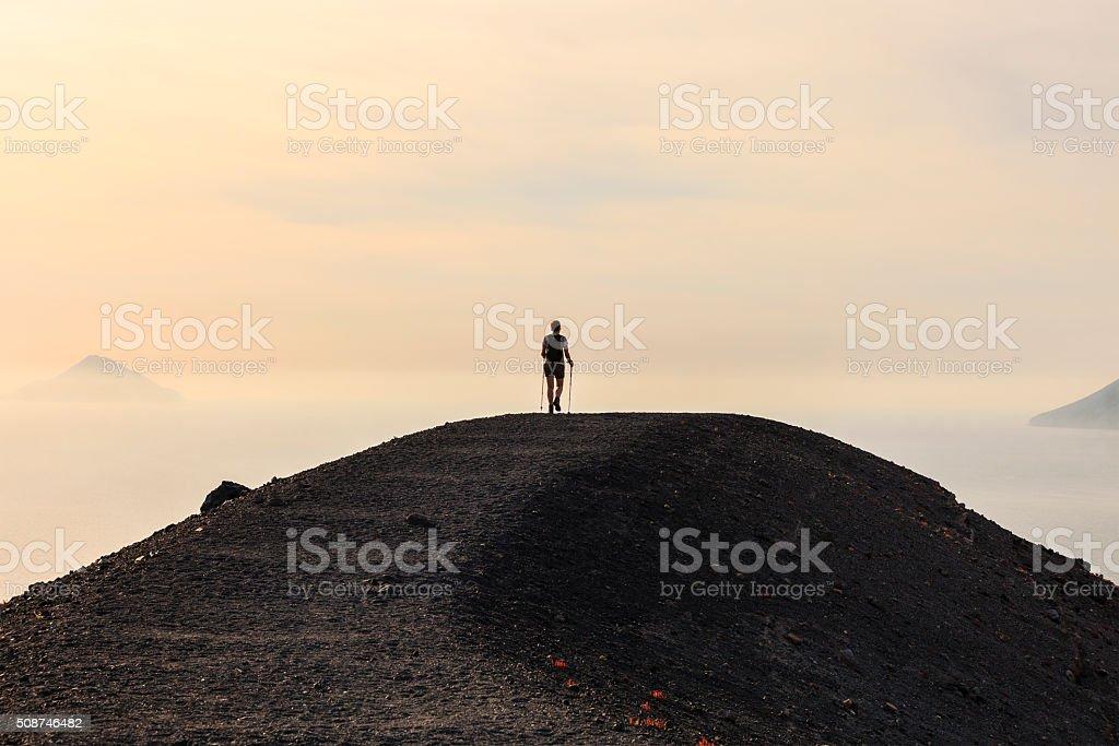 Vulcano, Footpath - Aeolian Islands, Sicily stock photo