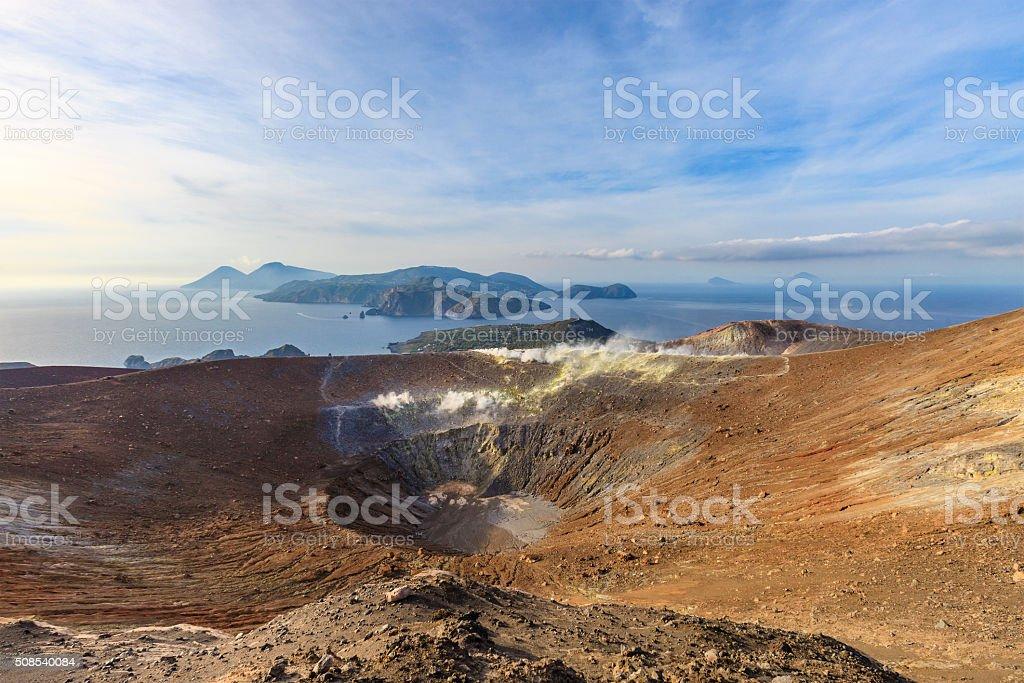 Vulcano - Gran Cratere della Fossa, Aeolian Islands - Sicily stock photo