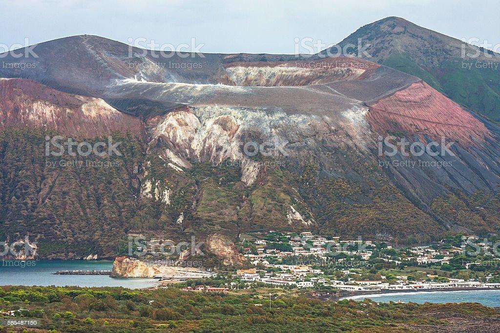 Vulcano Island in Tyrrhenian Sea stock photo
