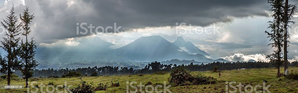 Vulcanoes National Park in Rwanda, Central Africa stock photo