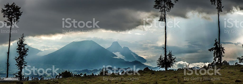 Vulcanoes National Park in Rwanda, Central Africa stock photo