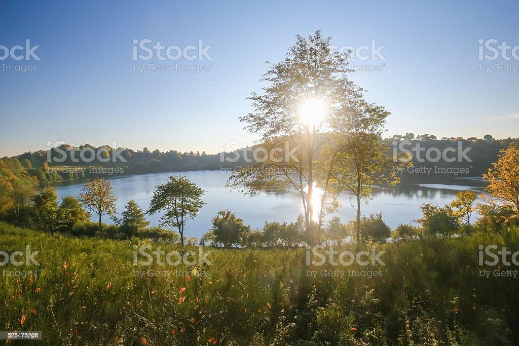 Vulkaneifel in Rhineland-Palatinate, Germany stock photo