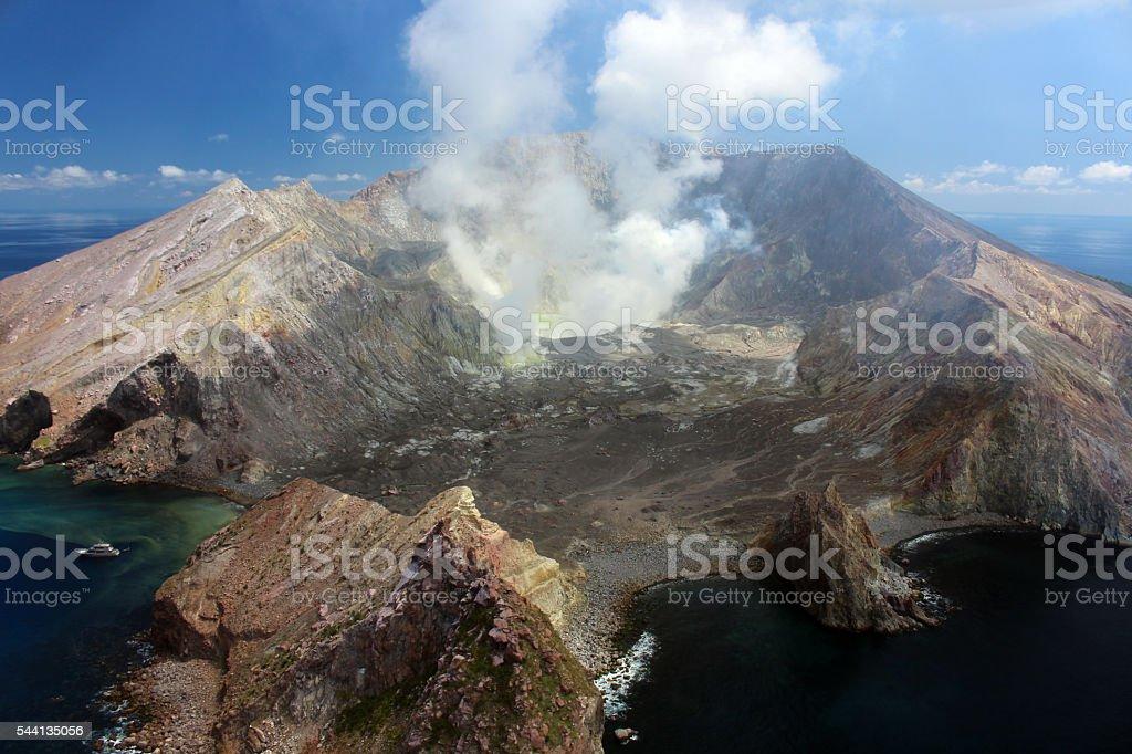 Vulkan-Neuseeland stock photo