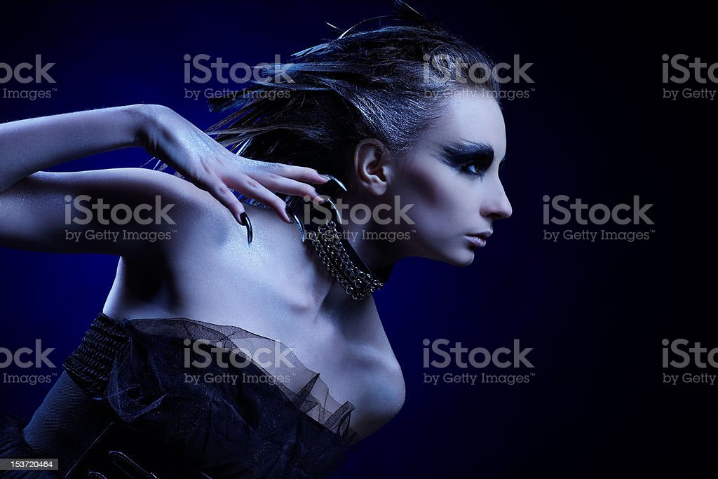 vulture girl royalty-free stock photo