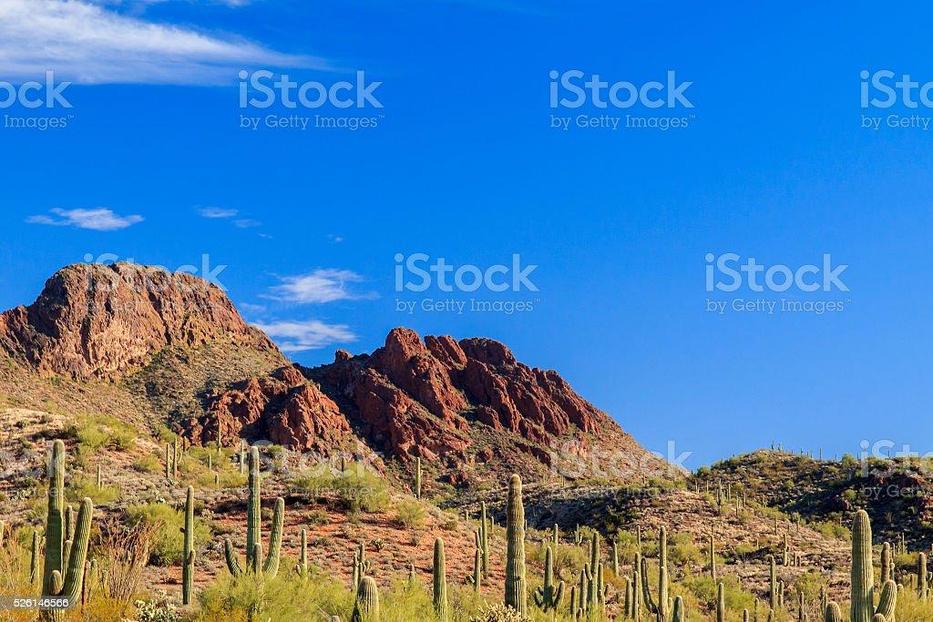 Vulture Peak, in Arizona's Sonoran desert. stock photo