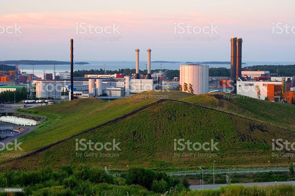 Vuosaari power plants in Helsinki, Finland royalty-free stock photo