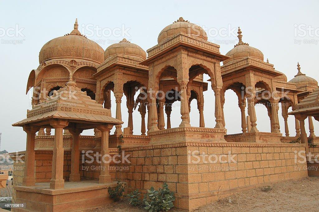 Vyas Chhatri in Jaisalmer, Rajasthan, India stock photo
