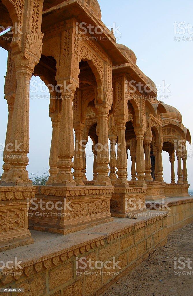 Vyas Chhatri, Jaisalmer, Rajasthan, India - Stock Image stock photo