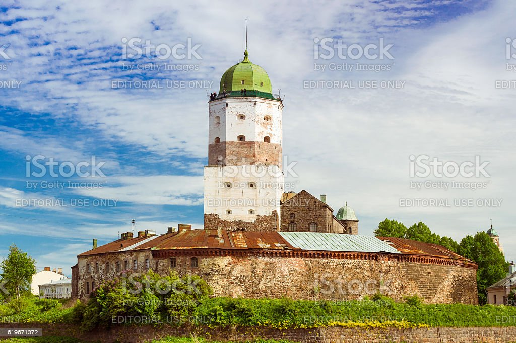 Vyborg castle, Saint-Petersburg, Russia stock photo