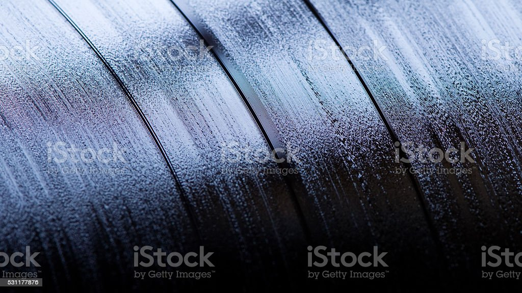 vynil LP close up stock photo