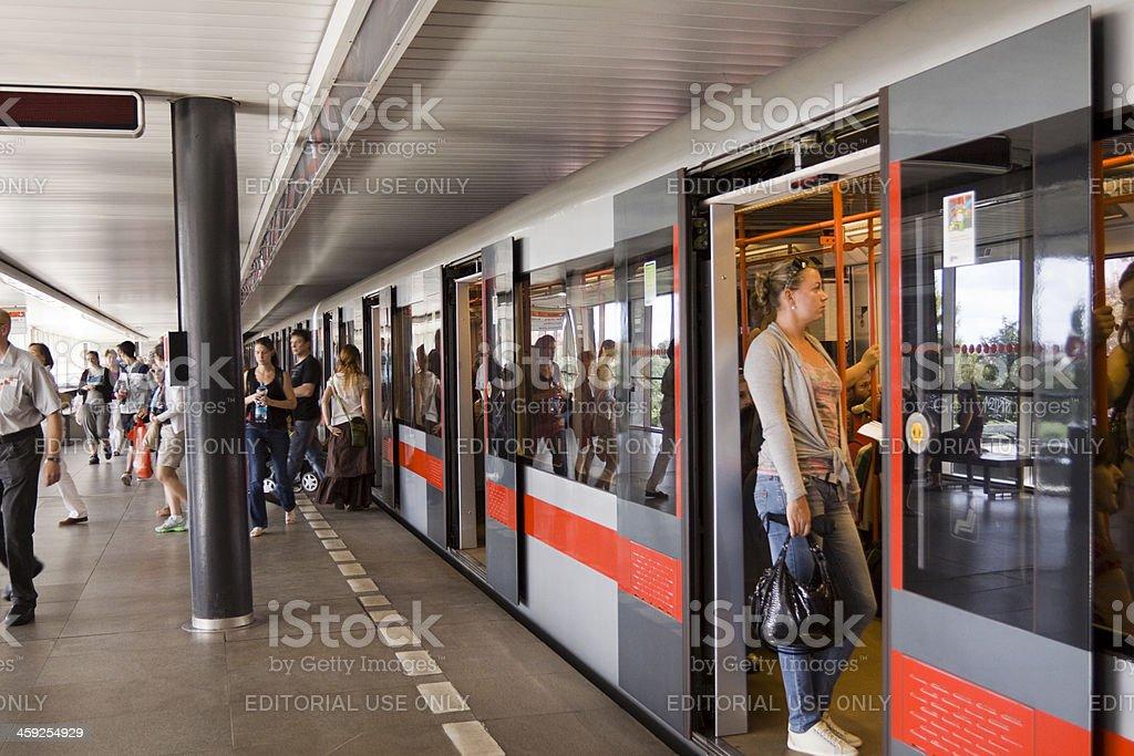 Vysehrad metro station in Prague royalty-free stock photo