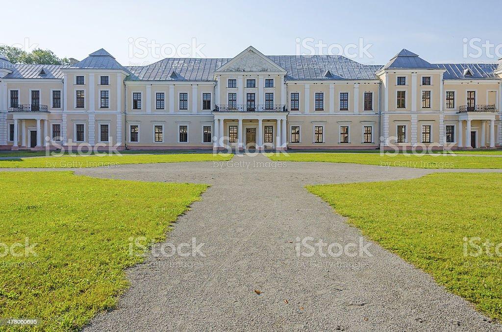 Vyshnivets (Wisniowiec), Ukraine - The Vyshnevetsky (Wisniowieccy) family palace. stock photo