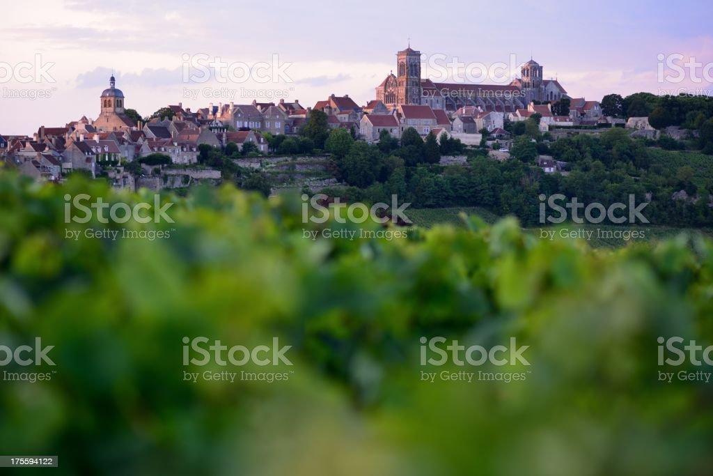 Vézélay in Burgundy, France stock photo