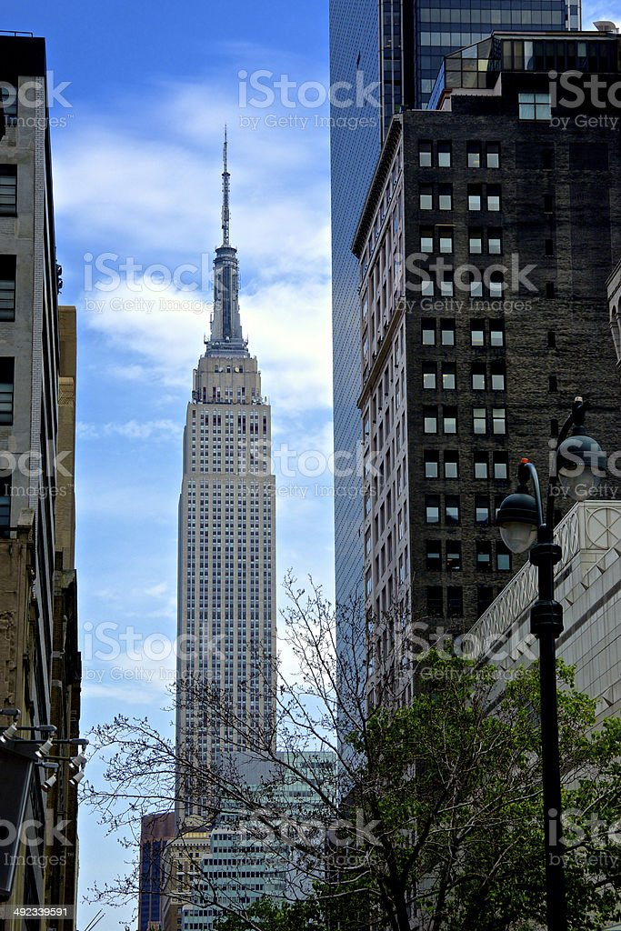 W.34th Street Cityscape, Empire State Building, Manhattan, New York City royalty-free stock photo