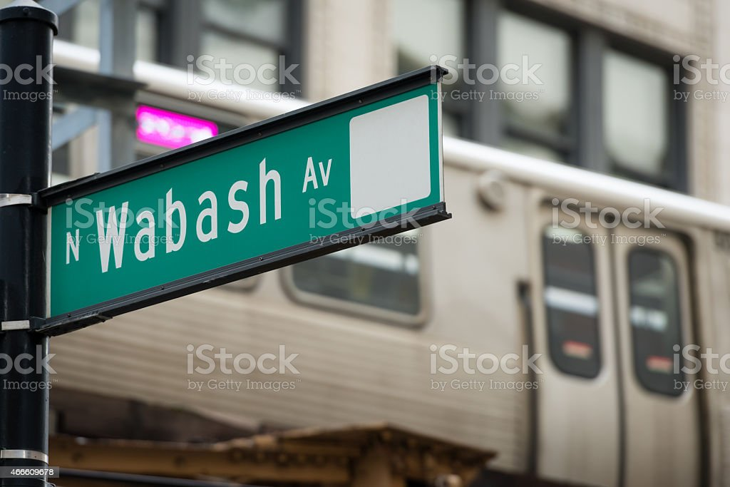 Wabash Avenue stock photo