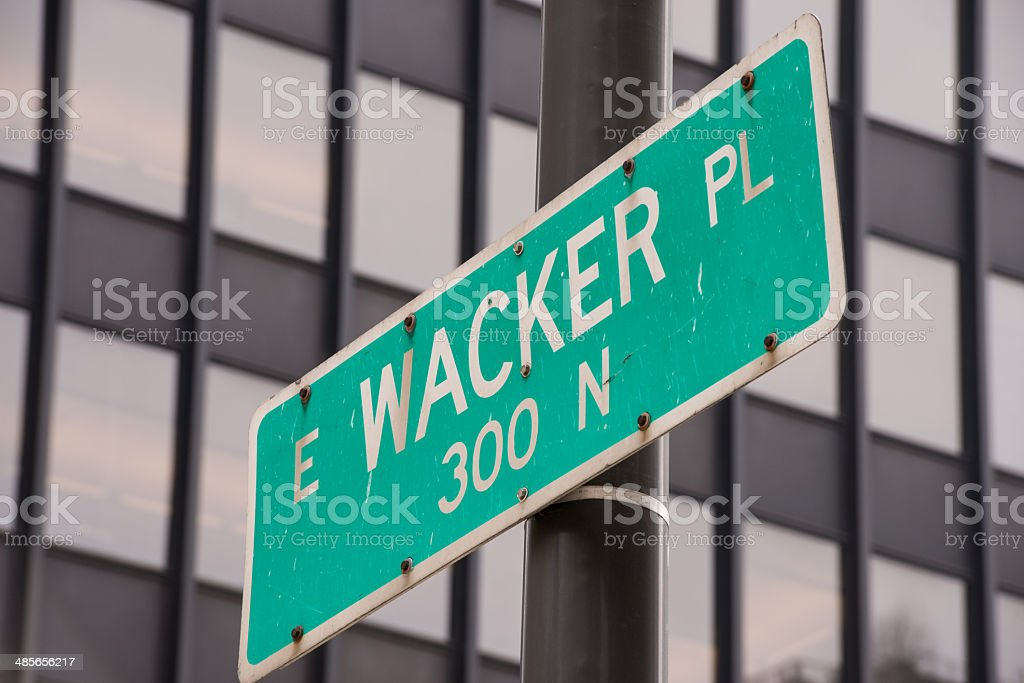 Wacker Place royalty-free stock photo