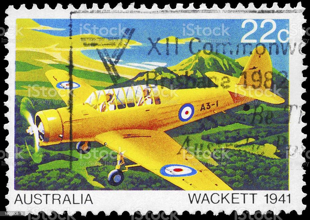 Wackett plane royalty-free stock photo