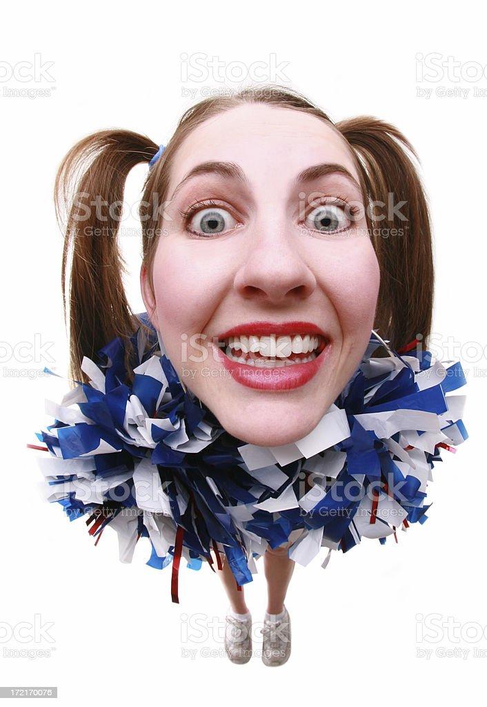 Wacky Cheerleader royalty-free stock photo