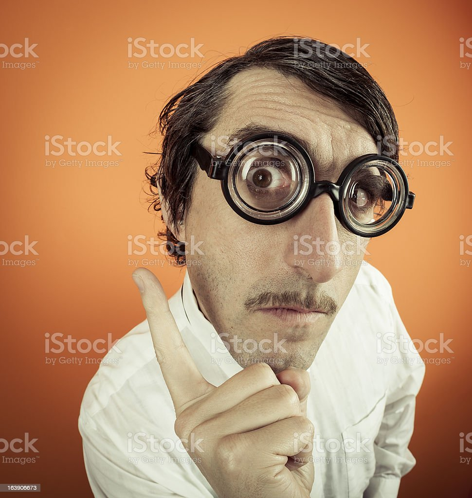 Wacky Professor royalty-free stock photo