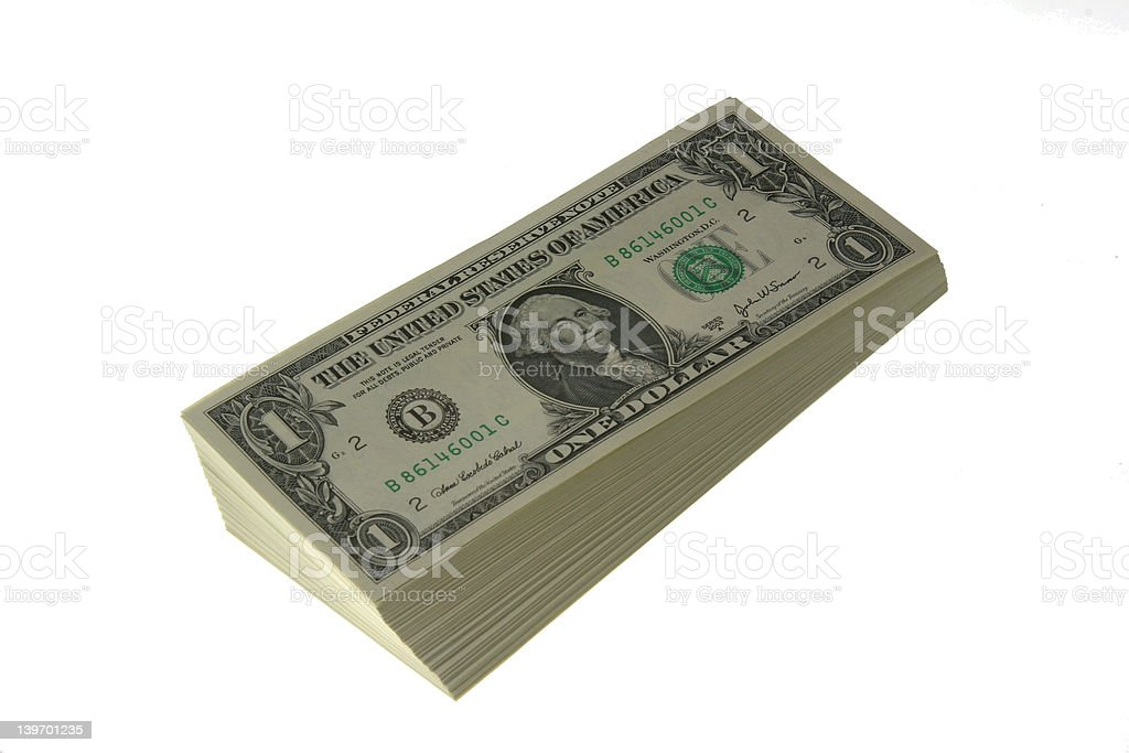 Wad of Cash royalty-free stock photo