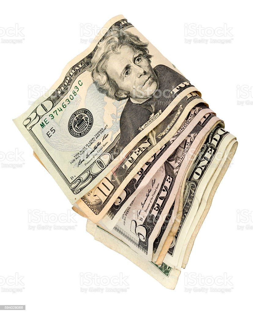 Wad Of Cash Vertical stock photo