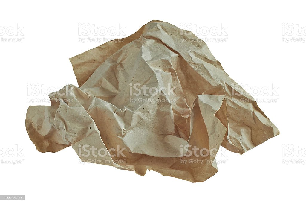 wad of crumpled paper royalty-free stock photo