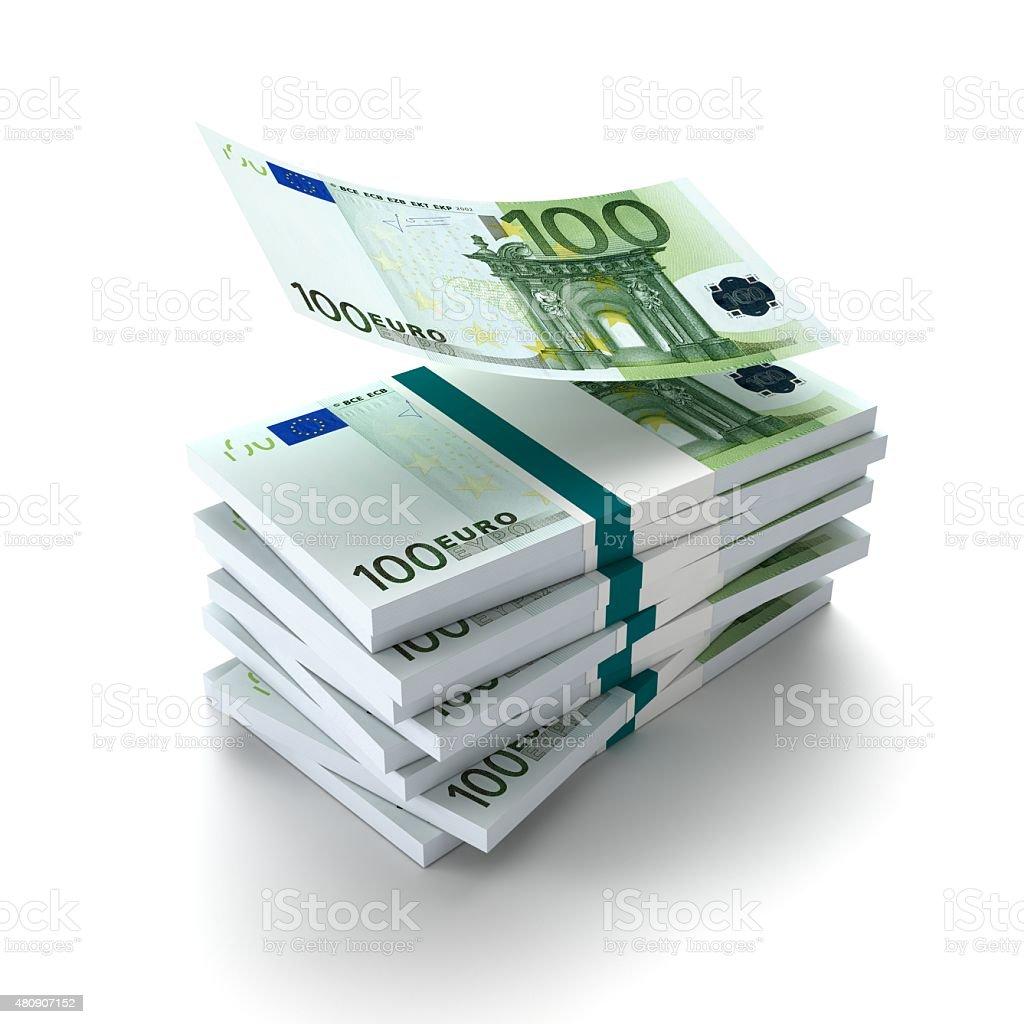 Wad of money_euro stock photo
