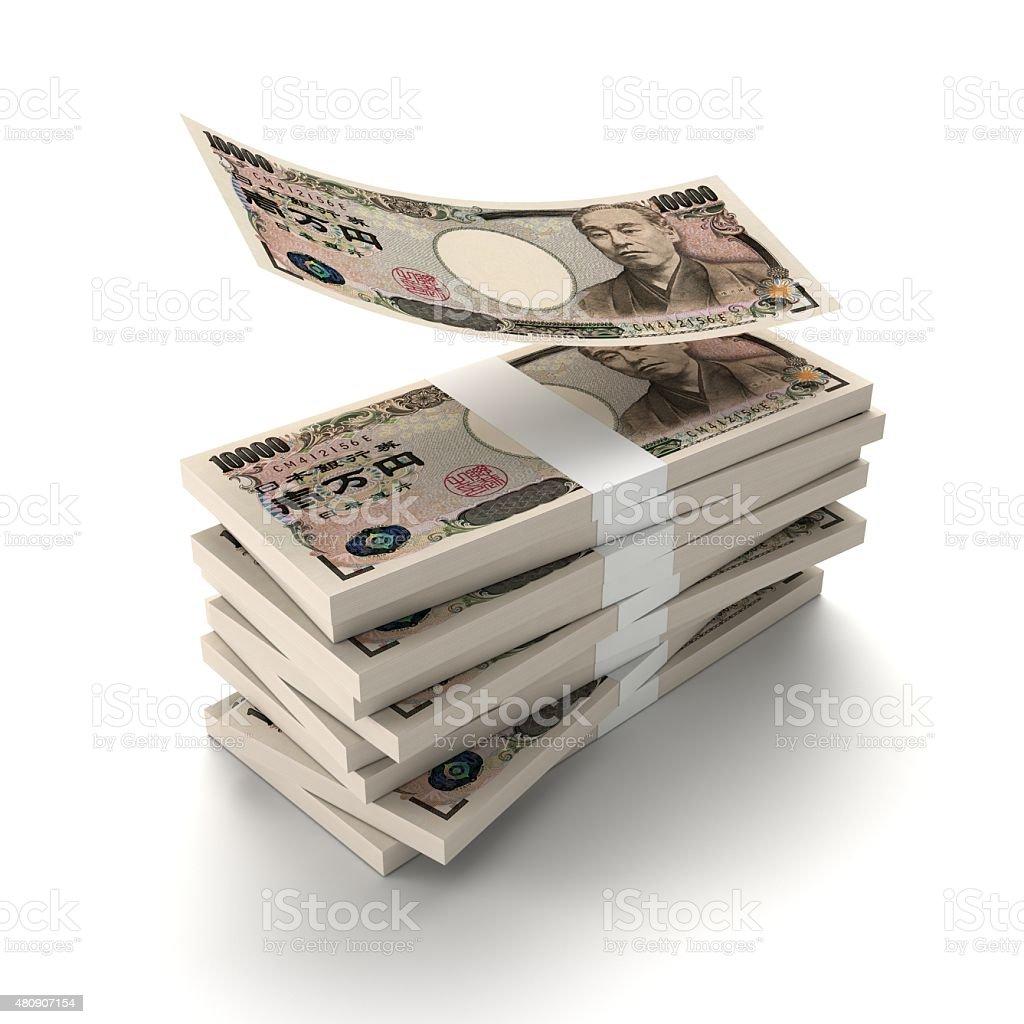 Wad of money_JPY stock photo