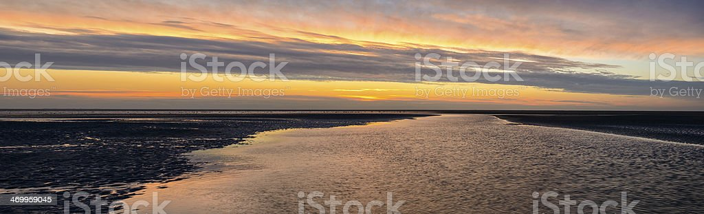 Wadden Panorama stock photo