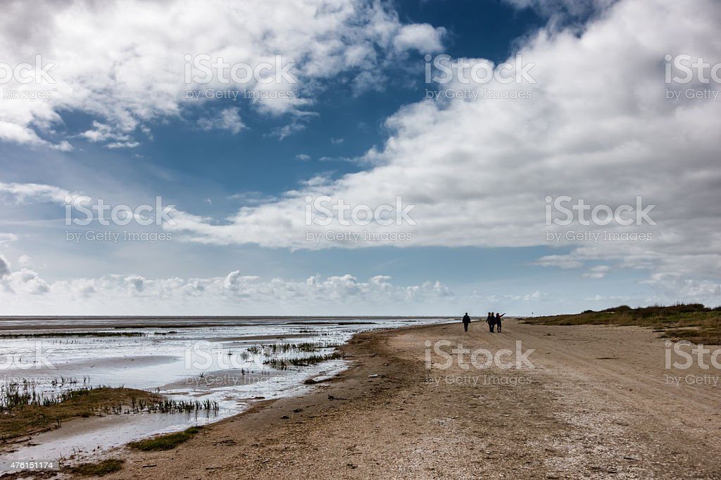 Wadden sea from Sonderho on Fano Denmark stock photo