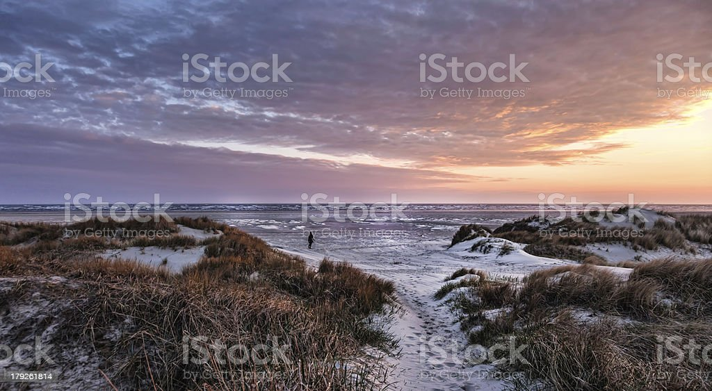 Wadden sea on Fano, Denmark stock photo