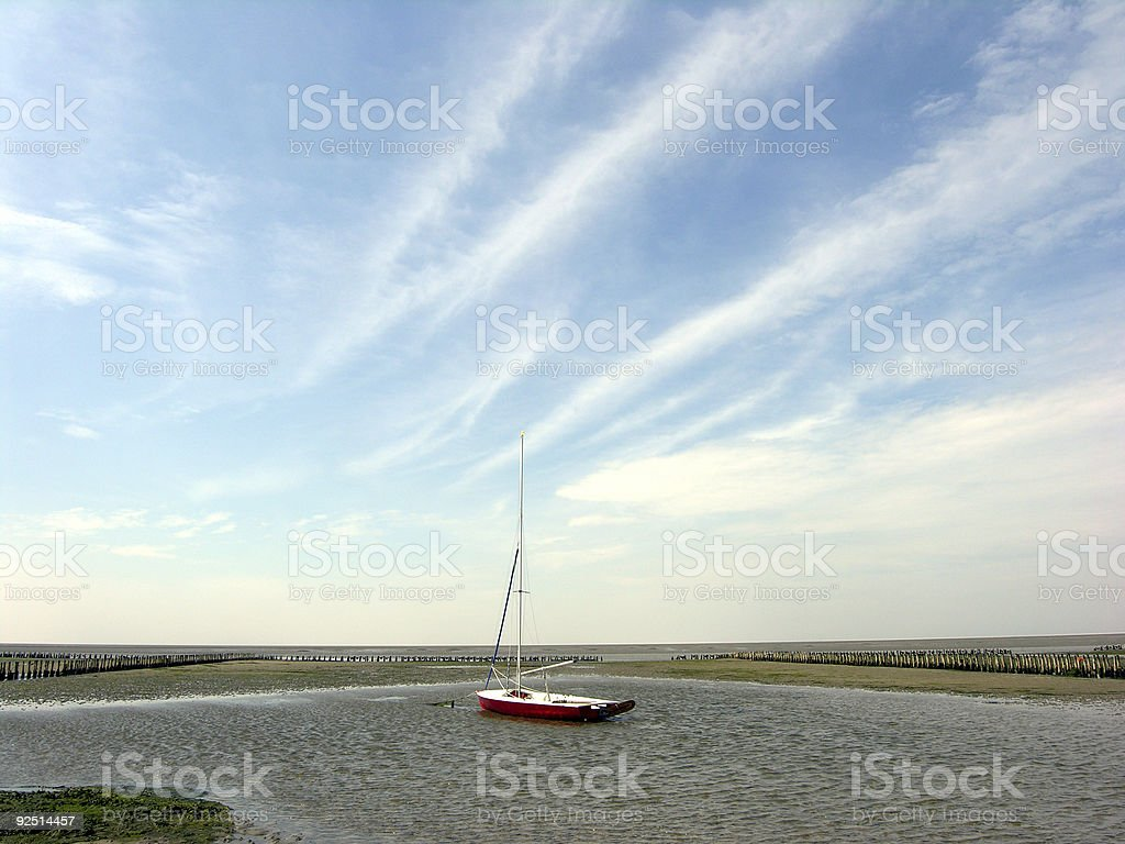 Waddensea royalty-free stock photo