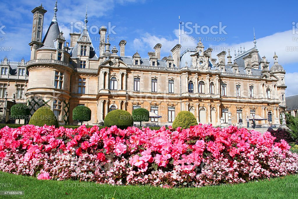 waddesdon manor country house buckinghamshire royalty-free stock photo