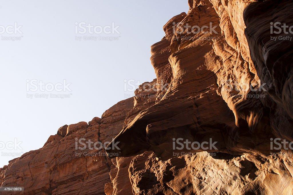 Wadi al mujib National Park, Grand Canyon of Jordan. royalty-free stock photo