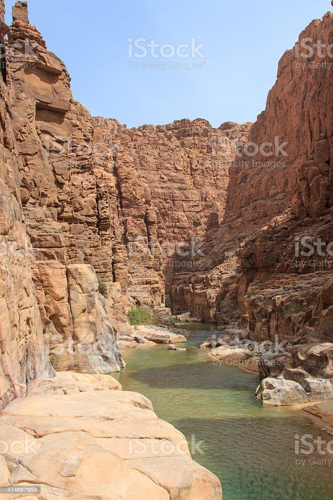 Wadi AL Mujib stock photo
