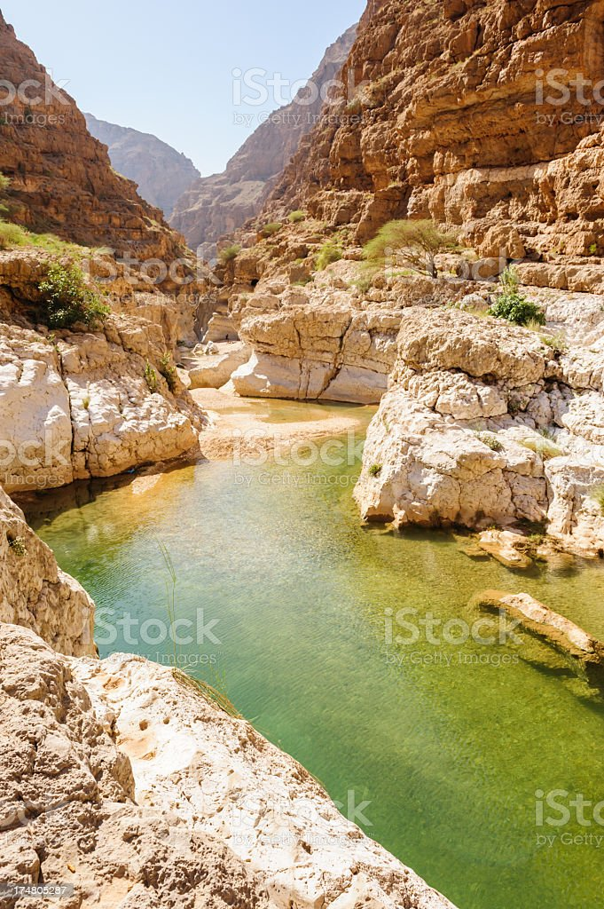 Wadi Al Shab stock photo