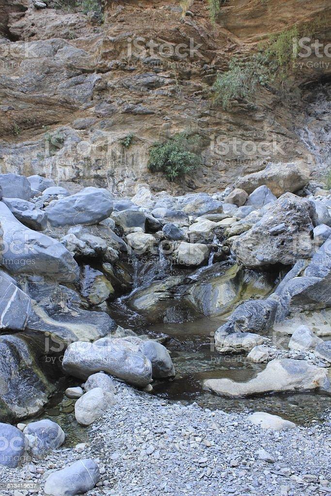 Wadi Bani Awf, Oman stock photo
